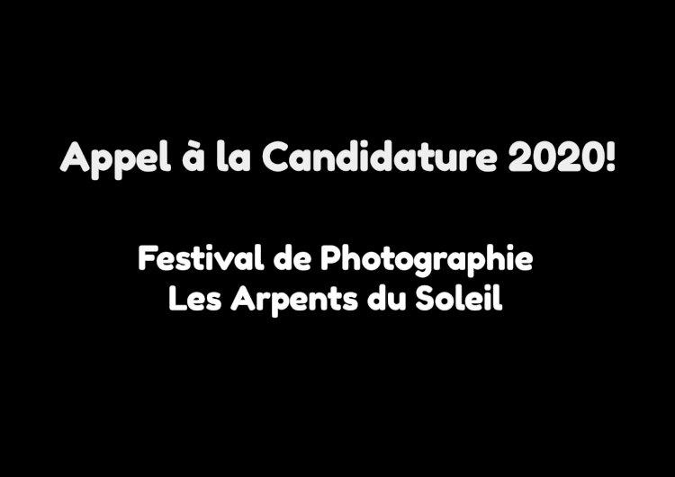 L'appel à candidature pour la troisième édition du FESTIVAL DE PHOTOGRAPHIE LES ARPENTS DU SOLEIL est ouverte !